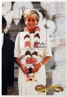 "Princess Diana ""Ambassador of Hope"" Commemorative Postage Stamp Sheet Issued by the Maldives, Diana - Princess of Wales 1961 - 1997."
