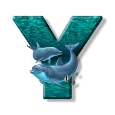 Buchstabe - Letter Y Alphabet Images, Monogram Alphabet, Alphabet, Fiestas, Initials, Display, Backgrounds, Marine Life, Pisces