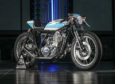 yamaha SR400 krugger motorcycle: an immaculate, custom-built café racer