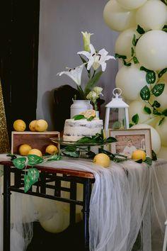 Lemon-inspired Cake Table from a Dainty Lemon Baptism Brunch on Kara's Party Ideas | KarasPartyIdeas.com (10)