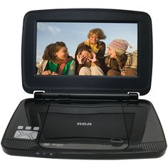 RCA DRC99392D 9-Inch Portable DVD Player with Rechargeable Battery and Remote Control, Black (Certified Refurbished)