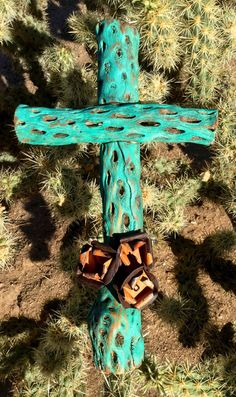 Cholla Wood Cross  Sacred works of the High Desert by CathyDeLeRee