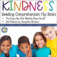 Two reading comprehension flip books to use with the books Each Kindness by Jacqueline Woodson and The Crayon Box That Talked by Shane Derolf. These books reinforce the importance of kindness. Flip books are a great way to review story elements and comprehension.