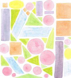 Waldorf ~ 5th grade ~ Math ~ Geometry ~ Shapes ~ dry painting