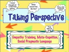 Taking Perspective: A social-cognition activity to work on empathy training Social Skills Activities, Teaching Social Skills, Counseling Activities, Speech Therapy Activities, School Social Work, High School, Middle School, Social Work Quotes, Self Help Skills