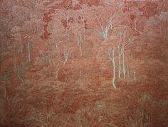 Xavier Deshoulières, Jungle sanguine, 240 x 180 cm, huile sur toile, 2012 – à Galerie Julio Gonzalès, Arceuil.