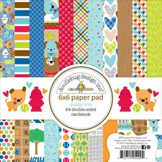"Puppy Love Paper Pad 6""x 6"" Doodlebug Collection"
