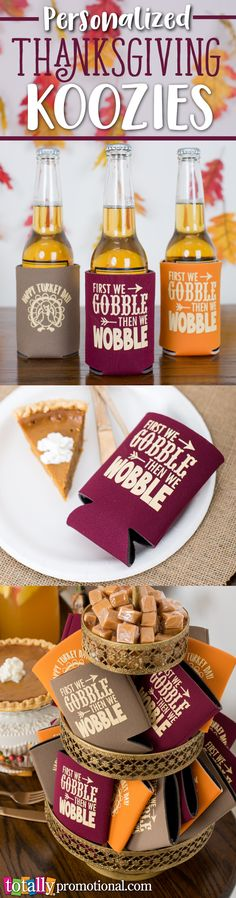 Personalized Thanksgiving can coolers compliment any Thanksgiving get together, event or party!  Can coolers are perfect for any kind of beverage, bottles, cans or cups!  Browse our customizable Thanksgiving artwork designs and create your own can cooler to make it yours!