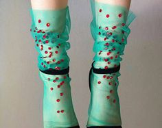 Feild Flowers Tulle Socks