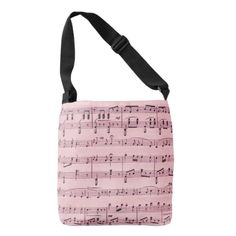 Pink  Sheet Music Tote Bag #musician #music notes #notes #musical composition #fashion #for her