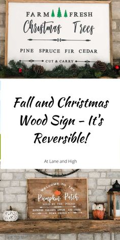This Christmas wood sign is actually reversible and has a fall wood sign on the other side! This is an easy DIY project that you can make for so much less than it would be to buy in store or online!