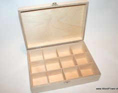 12 Compartments Wooden Tea Box / Dark Brown Box / Storage Box