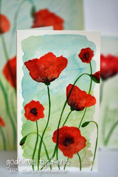StampingMathilda: Watercolored Poppies