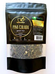 Detox yourself while drinking our green tea that tastes like famous cocktail. Famous Cocktails, Premium Tea, Tea Brands, Pineapple Coconut, Pina Colada, Teas, Detox, Drinking, Irish