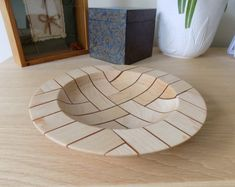 Maple and Resin Segmented Bowl