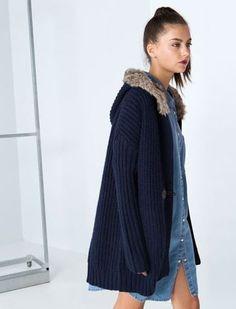 Bershka catalogo autunno inverno 2014 2015 giacca lana