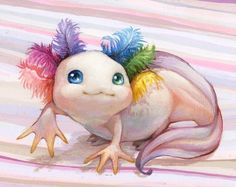 """6,560 Likes, 90 Comments - Camilla d'Errico (@camilladerrico) on Instagram: """"""""Pinky Pie"""" is all done!!  My cute little axolotl painting is ready to rock #SDCC in my """"Surreal…"""""""