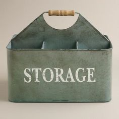 Zinc Donna Storage Caddy | World Market