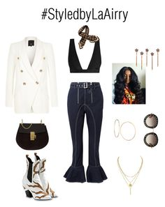 """Untitled #314"" by airis-kemp on Polyvore featuring self-portrait, Zimmermann, Louis Vuitton, River Island, GUESS, Chloé and Gucci"