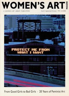 women's art library publication Jenny Holzer protect me from what I want