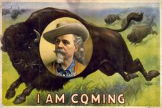 Buffalo Bill Cody featured himself prominently in ad campaigns, like this 1900…