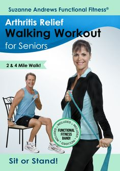 Suzanne Andrews: Arthritis Relief Walking Workout for Seniors with Free Fitness Band Arthritis Relief, Psoriatic Arthritis, Workout Dvds, Workout Videos, Senior Fitness, Yoga Fitness, Free Fitness, Weight Lifting