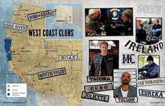Map Of Sons Of Anarchy Charters