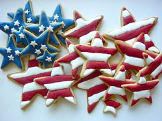 Patriotic Apple Pie Spice Sugar Cookies - Diary of a Mad Hausfrau