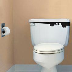 Toilet monster sticker...