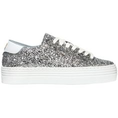 3d49d08f602 Chiara Ferragni Women 40mm Glitter Sneakers ( 300) ❤ liked on Polyvore  featuring shoes