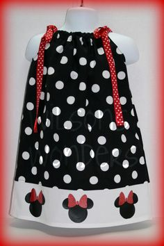 Black White and Red Minnie Mouse Pillowcase by WilsonsWonders $18.00 & Pillowcase Dress by JennifersWreaths on Etsy $20.00   Kid Stuff ... pillowsntoast.com