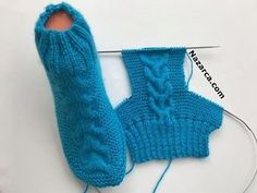 orgu-mavi-yarim-corap-sis-isi - My WordPress Website Der Neuen stricken-blau-and-half-socks-cis-heat Image gallery – Page 438397344977460084 – Artofit Super Easy Slippers to Crochet or to Knit Knitting Stitches, Knitting Socks, Free Knitting, Baby Knitting, Knitting Patterns, Crochet Socks, Half Socks, Pull Torsadé, Crochet Crocodile Stitch