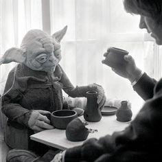 webofstarwars:  Early Yoda puppet.