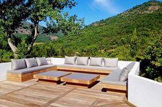 Villa Alaya is a beautiful villa for rent in La Mole, France. Backyard Seating, Backyard Patio Designs, Fire Pit Backyard, Garden Seating, Terrace Garden, Outdoor Lounge, Outdoor Seating, Outdoor Living, Sofa Area Externa