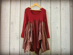 Lg. Burgundy Recycled Sweater Dress// emmevielle by emmevielle