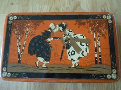 ANTIQUE RARE ART DECO LADY´S IMAGE BISCUIT TIN | eBay