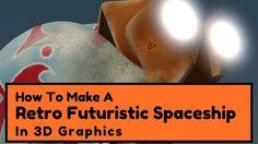 Make A Retrofuturistic Spaceship In Graphics Retro Futuristic, Spaceship, Graphics, 3d, Blog, Prints, Space Ship, Spacecraft, Graphic Design