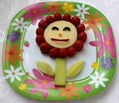 These healthy snack made of fresh veggies and cheese is sure to get a smile!