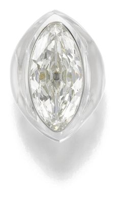 Rock Crystal and Diamond Ring, Suzanne Belperron, circa 1935. JEWELS FROM THE PERSONAL COLLECTION OF SUZANNE BELPERRON.