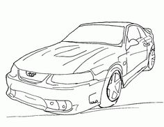 mustang coloring pages printable - Mustang Coloring Pages
