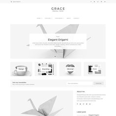 Grace - Minimal WordPress Blog Theme by Lucid Themes on @creativemarket