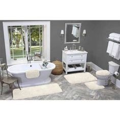 Made Here Bath Rug Collection, Beige