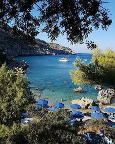 Anthony Quinn Bay, Faliraki, Rhodes, Greece Beautiful Places To Travel, Wonderful Places, Continents And Countries, Corfu Greece, Paradise City, Porches, Nature Beach, Romantic Destinations, Greece Islands