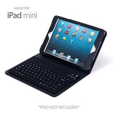 iPad Mini Bluetooth Keyboard and Protective Case via mercatoconvenienza. Click on the image to see more!
