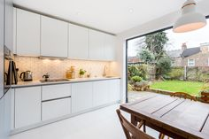 A beautiful Nolte Soft Lac Handleless kitchen in Papyrus Grey and White. With bi-folding doors into the garden, this small but perfectly formed kitchen flows into the garden, perfect for when Spring and Summer finally arrives! Updated Kitchen, New Kitchen, Kitchen Decor, Handleless Kitchen, German Kitchen, Kitchen Models, Bespoke Kitchens, Folding Doors, Kitchen Cabinets