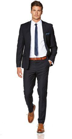 Navy Skinny Suit - Hallensteins Tailored Menswear