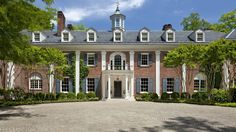 You can all but picture a young Jackie Kennedy Onassis frolicking through the halls and gardens of this regal mansion in McLean, Virginia. Jackie Kennedy, Les Kennedy, Jackie O's, Beautiful Architecture, Glasgow, The Ritz Paris, Mega Mansions, Celebrity Houses, Mansions