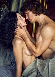 "jamesandclairefraser: "" The sex scenes between Claire and Jamie are an ""important part of the story,"" says Balfe. ""They don't feel gratuitous."" "" HOLY SHIT"