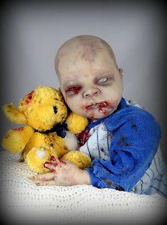 Freaky Reborn Zombie Walking Dead Fans Creepy Cute OOAK Handmade Horror Goth   eBay