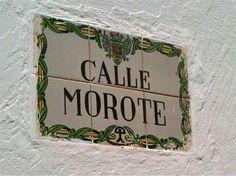 Ceramic wall plaque in Mojácar, Almería, Andalucía, Spain - showing lucky Indalo